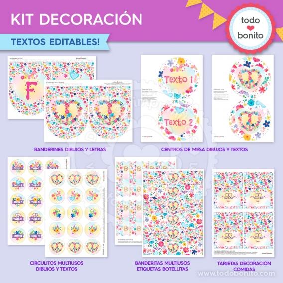 Kit decoración de Amor & Paz