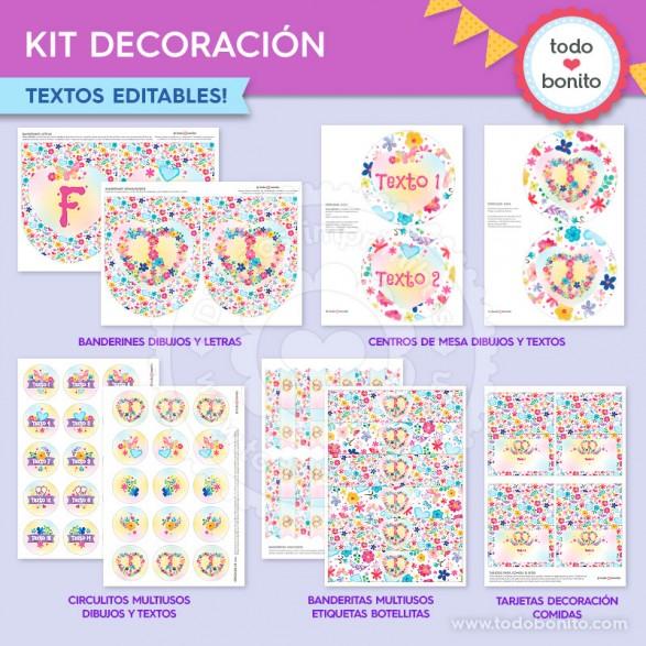 ? Amor & Paz - Kits imprimibles por Todo Bonito