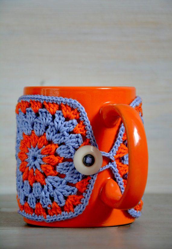 Sweater mug crochet