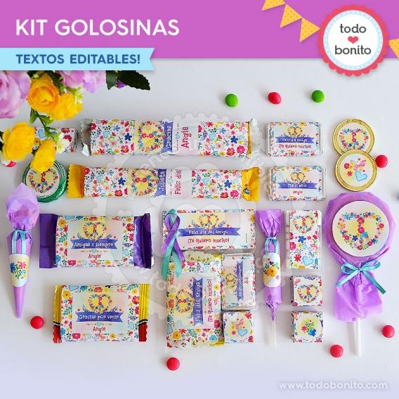 Amor & Paz Kit imprimible de etiquetas de golosinas