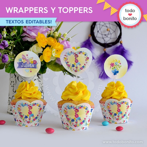 Amor & Paz Kits de wrappers y toppers