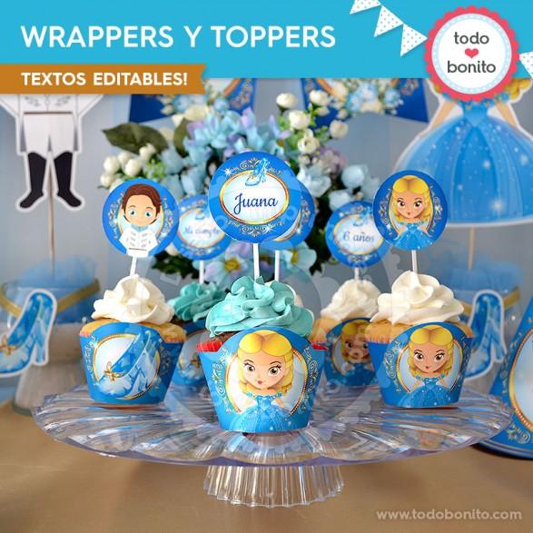 Wrappers y toppers Cenicienta