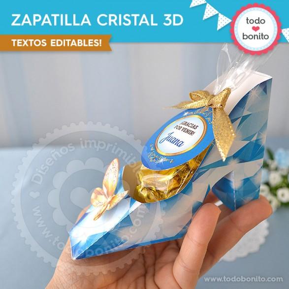 Zapatilla Cenicienta para imprimir