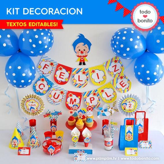 Kit decoracion de Plim Plim