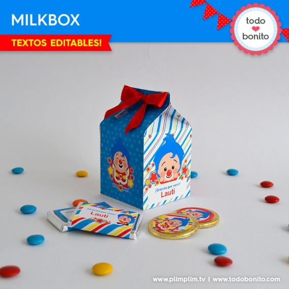 Milkbox del kits imprimible de Plim Plim