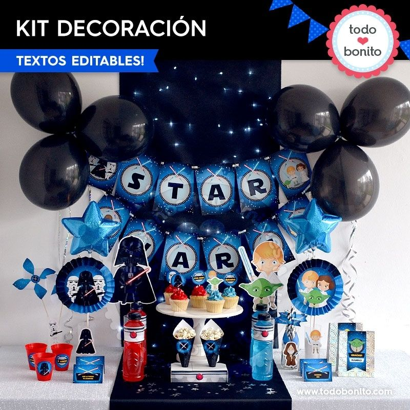 Decoraciones de Star Wars para imprimir y decorar tu fiesta