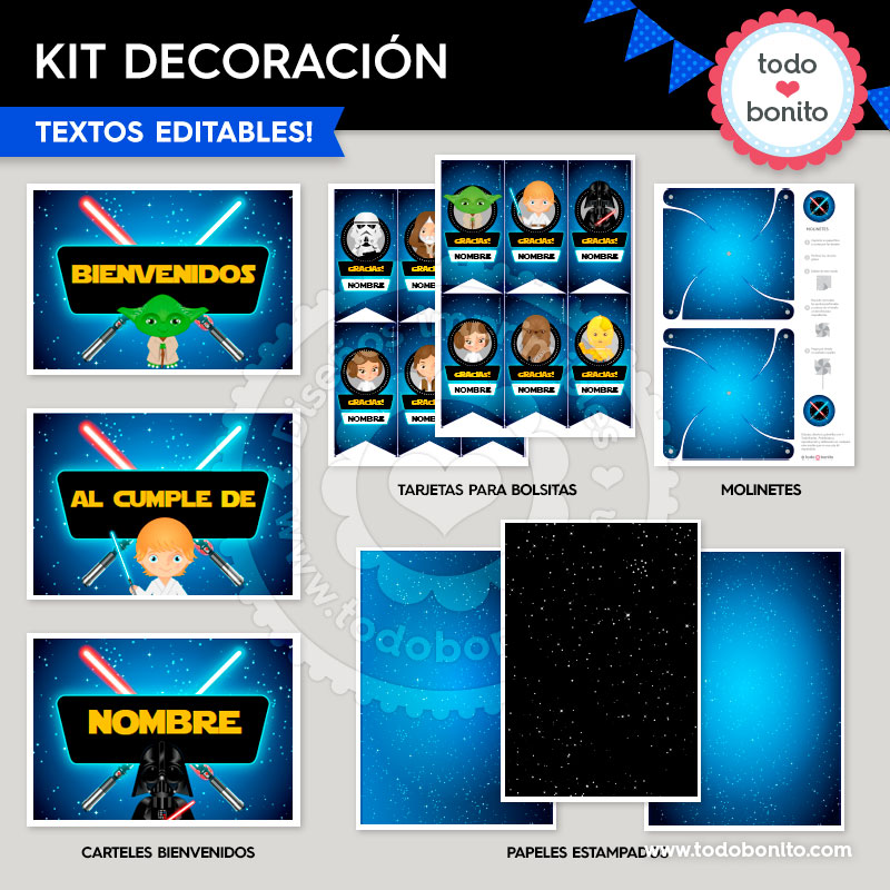 Kit imprimible Star Wars