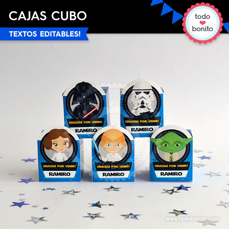 Kit imprimible cajas Star Wars