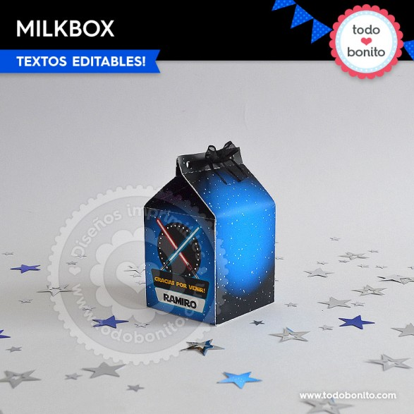 Kit imprimible milkbox Star Wars