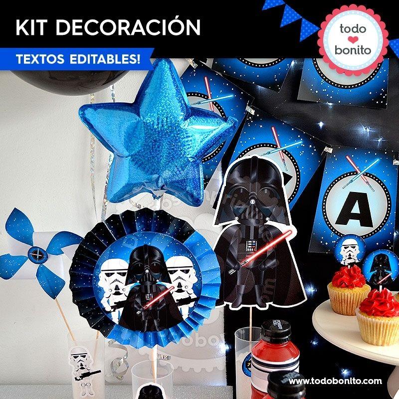 Decoraciones de Star Wars para imprimir y decorar tu fiesta