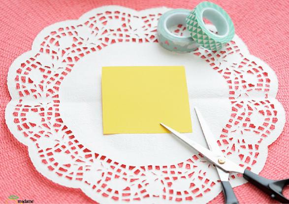 cestitos blonda de papel