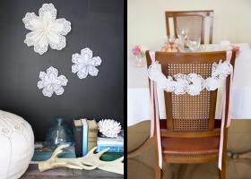Originales flores hechas con blondas de papel