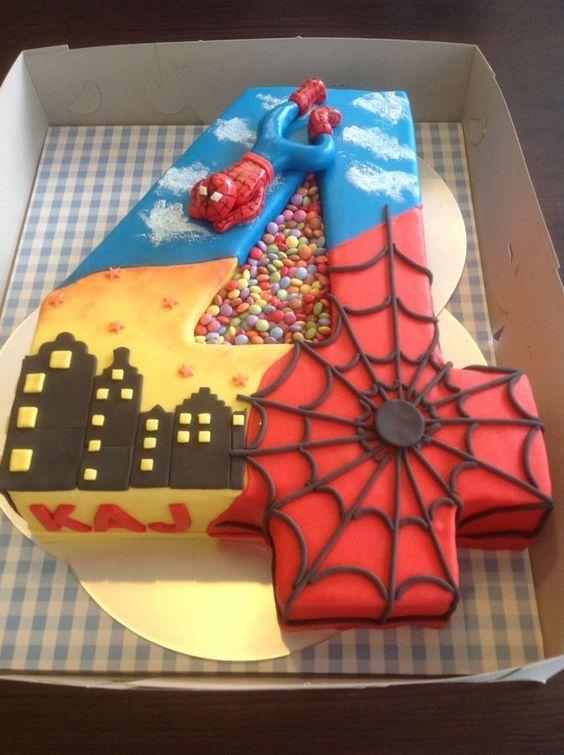 Cake Design Para Homem : Ideas para fiesta del Hombre Arana - Todo Bonito