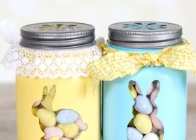 Frascos de conejo de Pascua