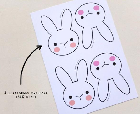 Imprimible gratis de conejitos para decorar todo bonito for Guirnaldas para imprimir