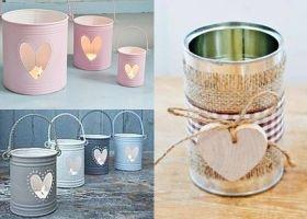 Ideas para decorar con latas