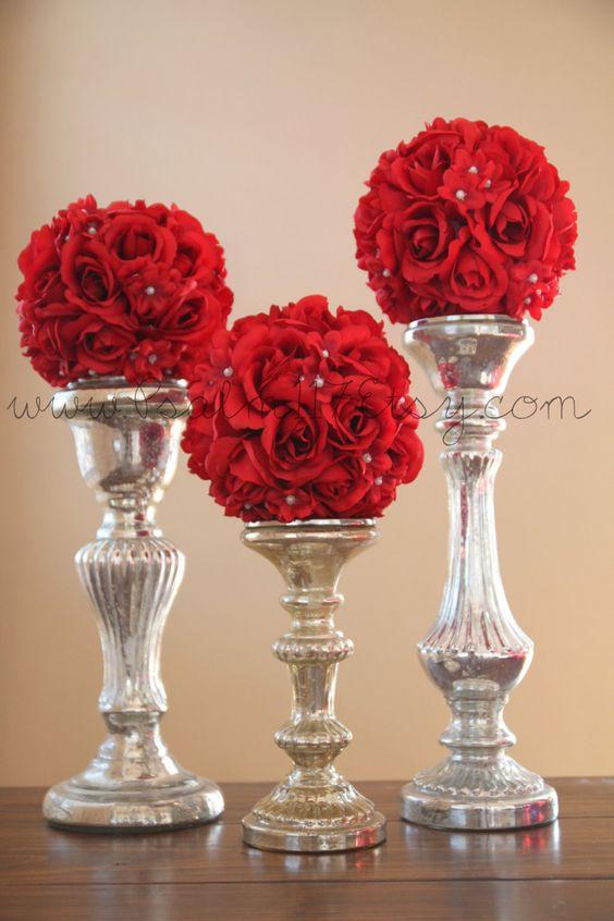 Esferas decorativas con flores