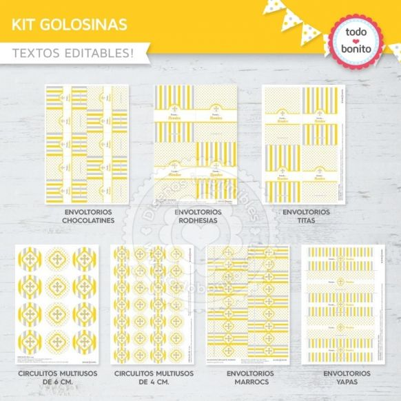 cruz-gris-amarillo-kit-decoracion-golosinas