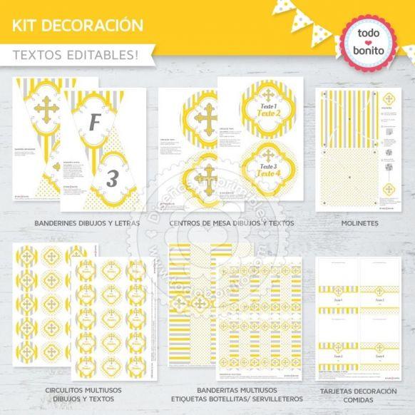 cruz-gris-y-amarillo-kit-decoracion