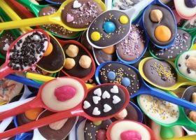 cuchara de chocolate