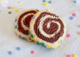 Espirales de galleta con confites