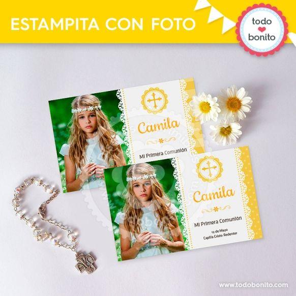 primera-comunion-margaritas-tarjeta-foto