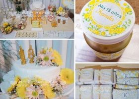 Kit imprimible flores amarillas, por Todo Bonito