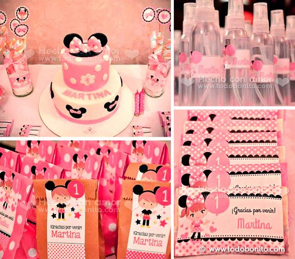Kit imprimible Orejas Minnie Rosa de Todo Bonito