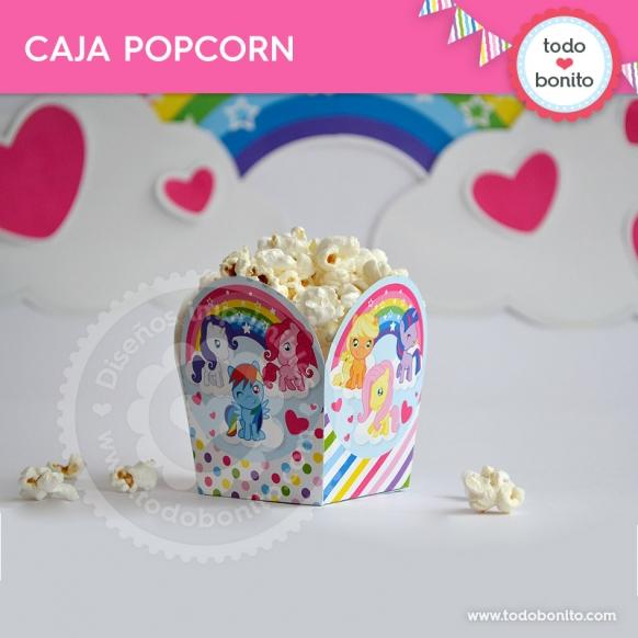 Caja popcorn para imprimir de kits pony