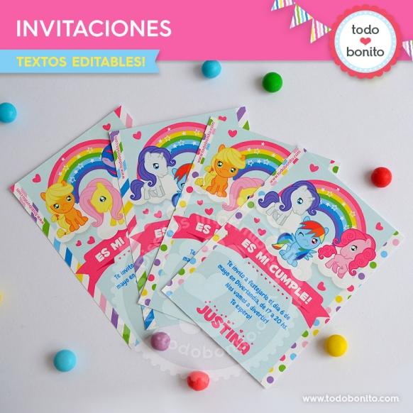 Invitaciones para imprimir de kits pony