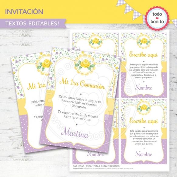 shabby-chic-violeta-amarillo-invitacion