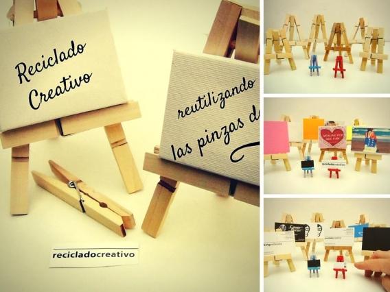 Caballetes en miniatura con pinzas de madera