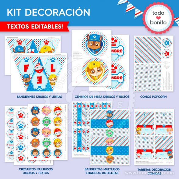 Kits imprimibles Paw Patrol - Patrulla Canina by Todo Bonito