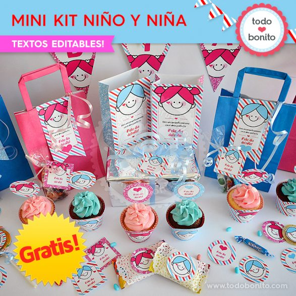 Mini Kit imprimible Niña y Niño ¡GRATIS!