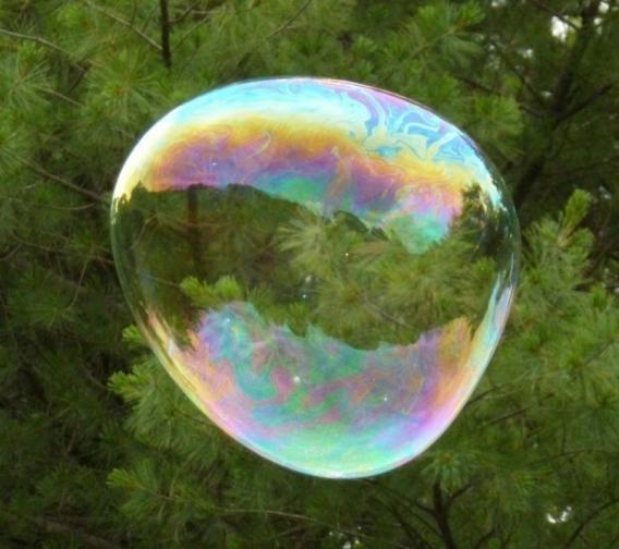 Burbujas gigantes en casa