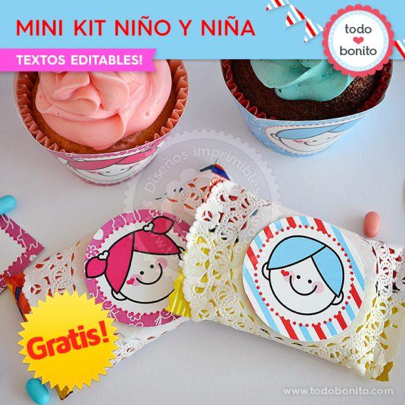 Mini Kit imprimible Niña y Niño ¡GRATIS!