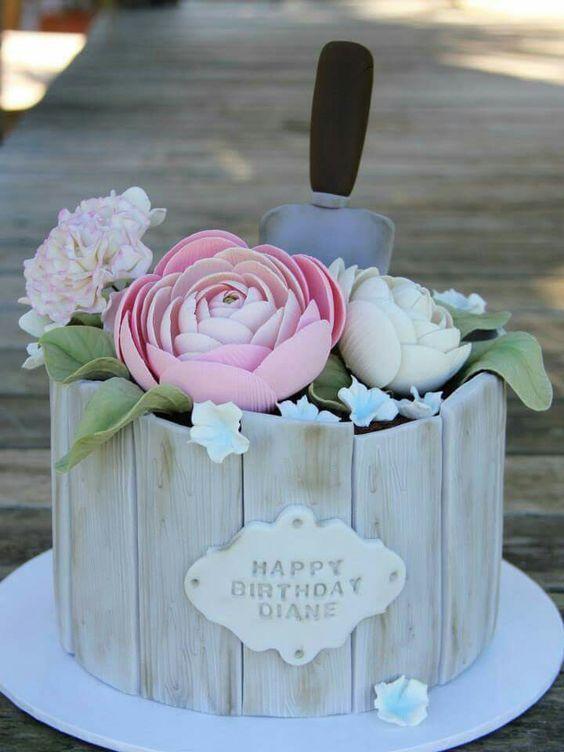 Hermosas tortas estilo Shabby Chic