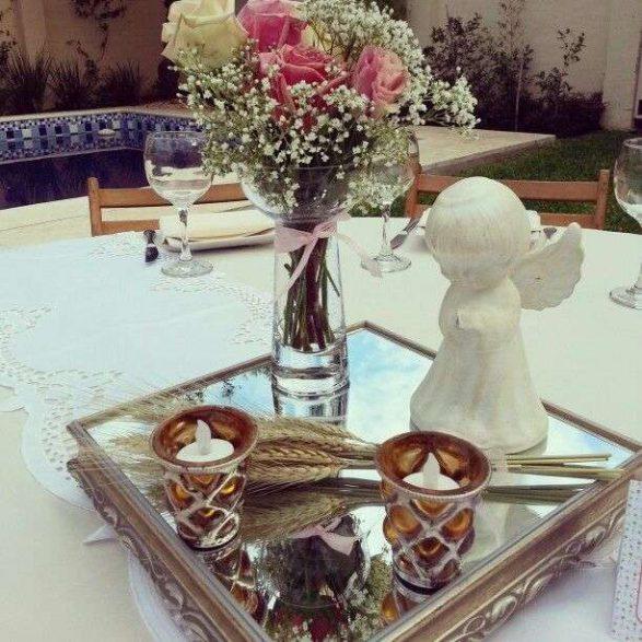 Hermosos centros de mesa para primera comuni n - Centros de mesa para comunion de nina ...