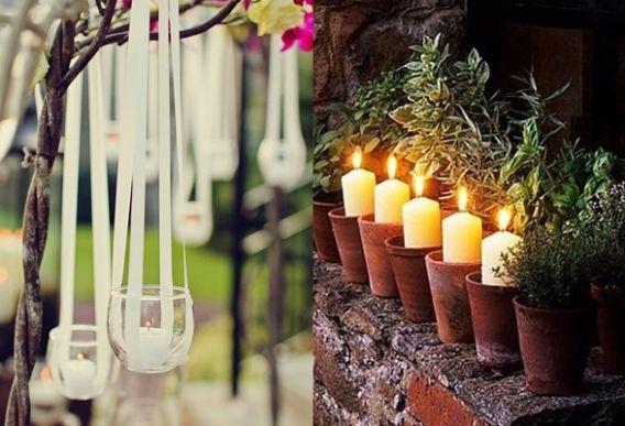 Hermosas maneras de decorar con velas