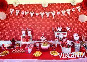 Shabby Chic rojo para Virginia