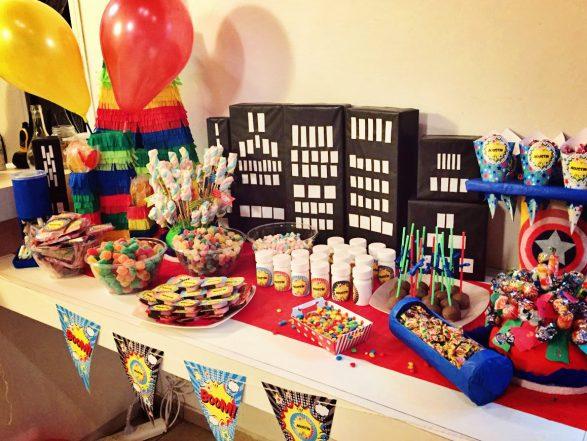 Decoraciones cumpleaños superheroes