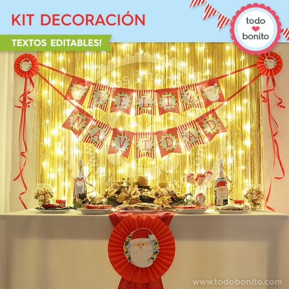 Carita de Santa: kit decoración