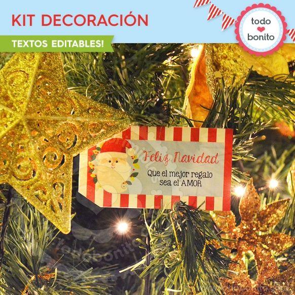 Carita de Santa: kit decoración