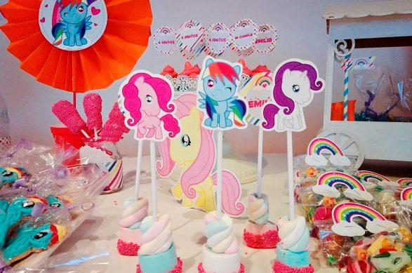 Decoracion cumpleaños de ponys