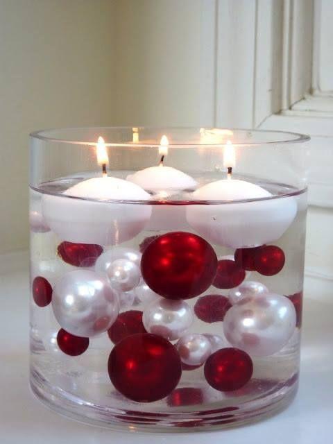 Decoración con esferas navideñas