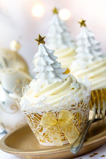 decoracion blanca y dorada