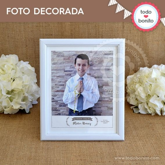 Foto decorada Imprimible Kit Rustico Todo Bonito