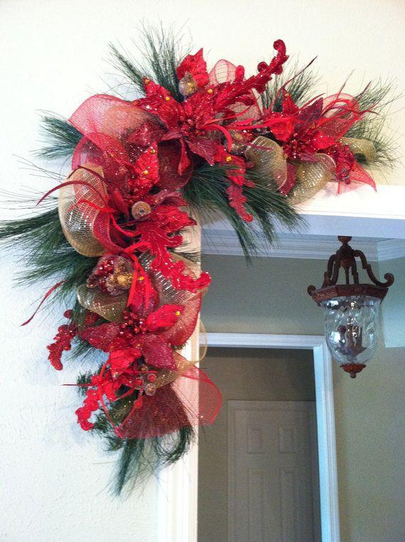 Decoración roja de navidad