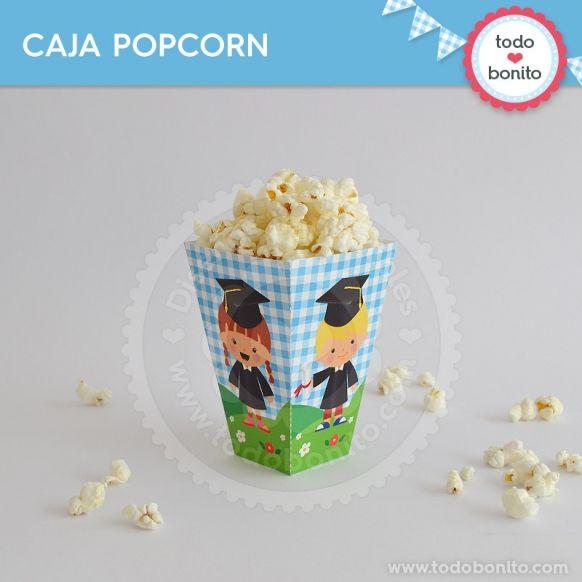 Cajita popcorn del kits egresaditos