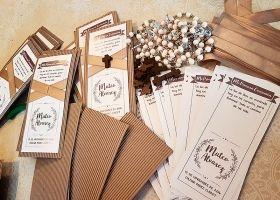 Cómo embellecer tarjetas estilo rústico paso a paso